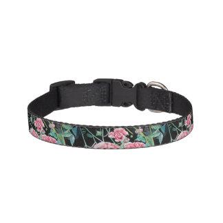 Beautiful Old Pink Roses Dog Collar