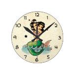 Beautiful Old School Mermaid Clocks