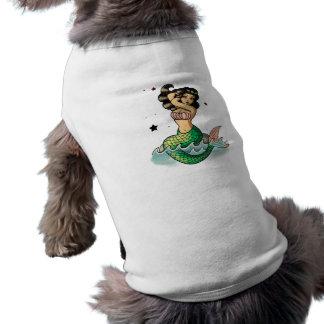 Beautiful Old School Mermaid Doggie Tee