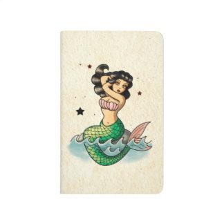 Beautiful Old School Mermaid Journal