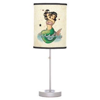 Beautiful Old School Mermaid Lamp