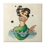 Beautiful Old School Mermaid Tile