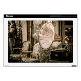 Beautiful Old Style Antique Phonograph Skins For Laptops