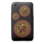 Beautiful Om Aum Symbol w/Circles and Squares iPhone 3 Case-Mate Case
