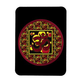 Beautiful Om Aum Symbol w/Circles and Squares Magnet