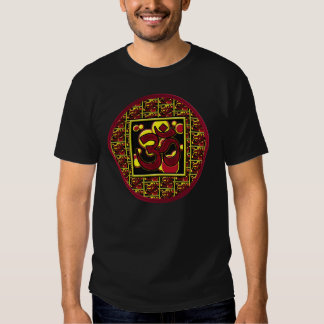 Beautiful Om Aum Symbol w/Circles and Squares T Shirt