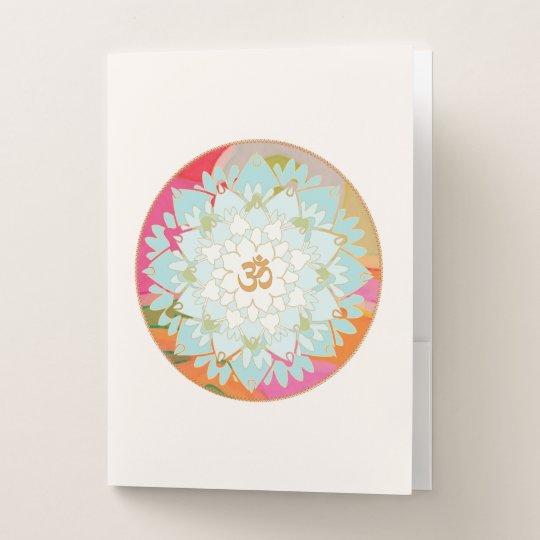 Beautiful Om Lotus Flower Mandala Art Pocket Folder Zazzle