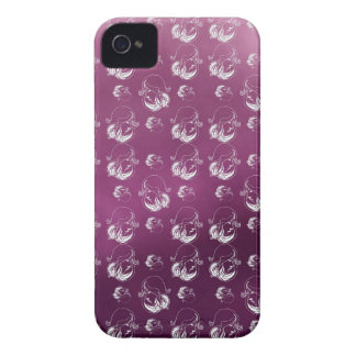 Beautiful on woman phase pink background Case-Mate iPhone 4 case