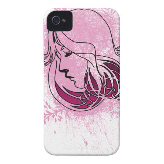 Beautiful on woman phase pink background iPhone 4 case