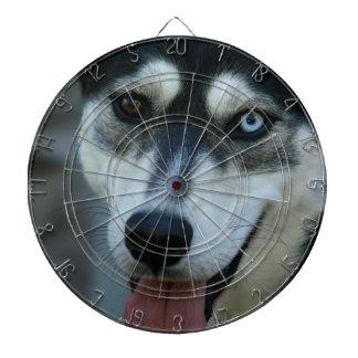 Beautiful One Blue Eye Siberian Husky Dart Board