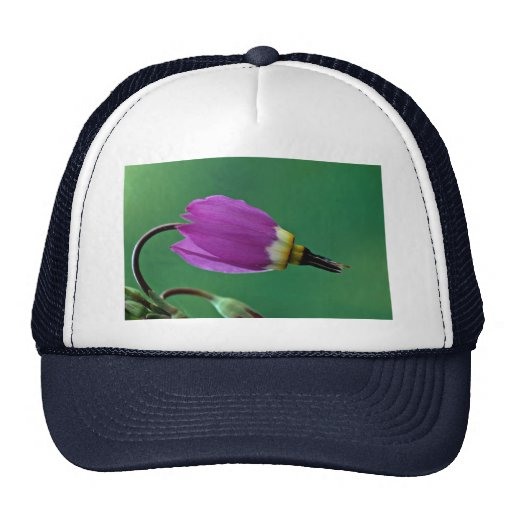 Beautiful One shooting star flower against green Trucker Hat