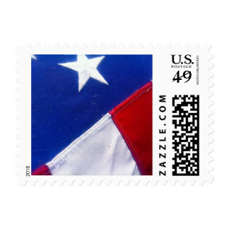 Beautiful One-Star American Flag Closeup Postage
