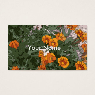 Beautiful Orange and Purple Daisies Business Card