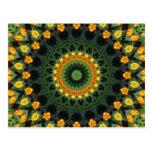 Beautiful Orange and Yellow Lantana Kaleidoscope 1 Postcard