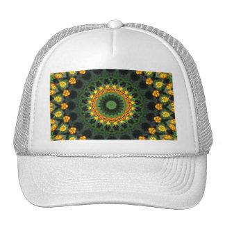 Beautiful Orange and Yellow Lantana Kaleidoscope 1 Trucker Hat
