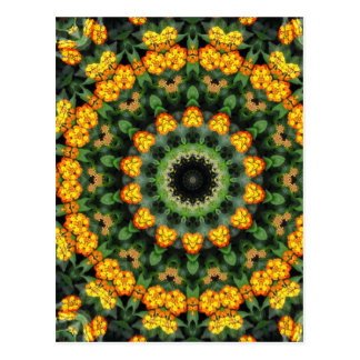 Beautiful Orange and Yellow Lantana Kaleidoscope 2 Postcard