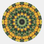 Beautiful Orange and Yellow Lantana Kaleidoscope 2 Sticker