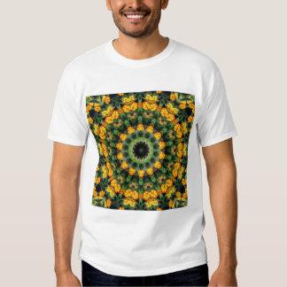 Beautiful Orange and Yellow Lantana Kaleidoscope 2 T-shirt