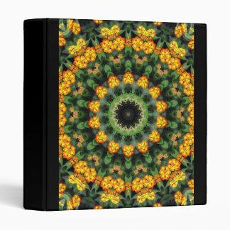 Beautiful Orange and Yellow Lantana Kaleidoscope 2 Vinyl Binder