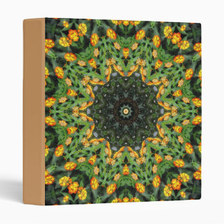 Beautiful Orange and Yellow Lantana Kaleidoscope 3 Binder