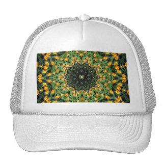 Beautiful Orange and Yellow Lantana Kaleidoscope 3 Trucker Hat