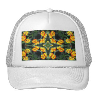 Beautiful Orange and Yellow Lantana Kaleidoscope 4 Trucker Hat