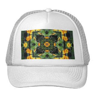 Beautiful Orange and Yellow Lantana Kaleidoscope 5 Trucker Hat