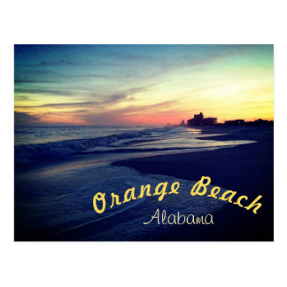 Beautiful Orange Beach Sunset Postcard
