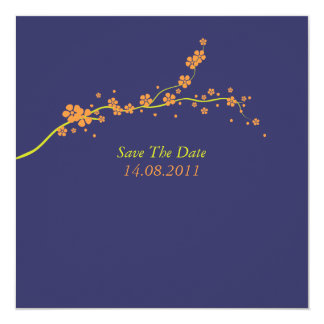Beautiful Orange Blossom Wedding Save the Date Card