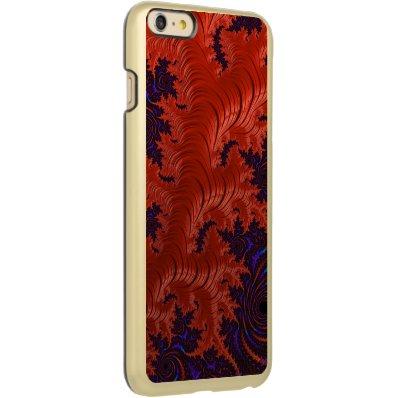 Beautiful Orange Blue Fractal Design Incipio Feather® Shine iPhone 6 Plus Case