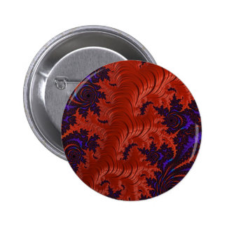 Beautiful Orange Blue Fractal Design Pinback Button