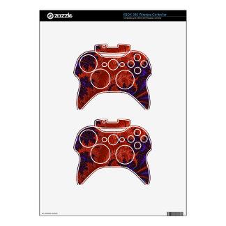 Beautiful Orange Blue Fractal Design Xbox 360 Controller Skin