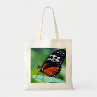 Beautiful orange butterfly budget tote bag