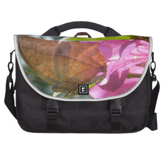 Beautiful Orange Butterfly on a Pink Flower Computer Bag