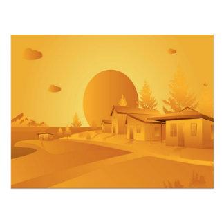 Beautiful Orange landscape Postcard