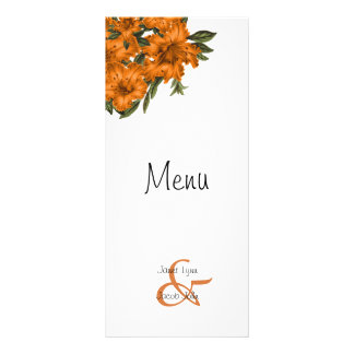 Beautiful Orange Lilies -  Menu