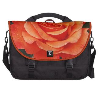 Beautiful orange rose petals print commuter bags