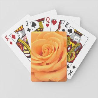 Beautiful orange rose photo playing cards