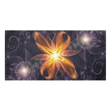 Halloween Themed Beautiful Orange Star Lily Fractal Flower at Night Door Sign