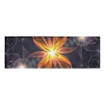 Halloween Themed Beautiful Orange Star Lily Fractal Flower at Night Name Tag