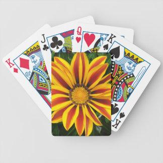Beautiful Orange Sun Flower Photo Bicycle Playing Cards