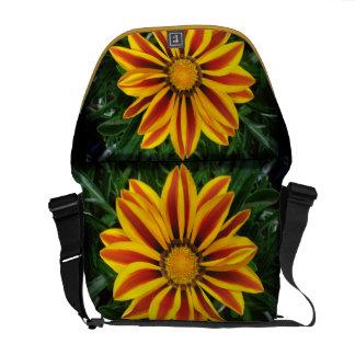 Beautiful Orange Sun Flower Photo Messenger Bag
