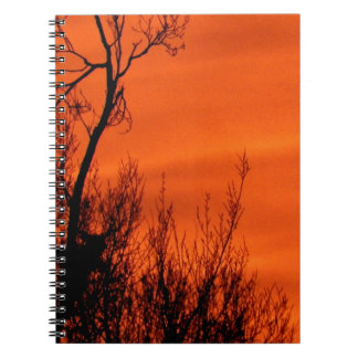 Beautiful Orange Sunrise in Kansas Notebook