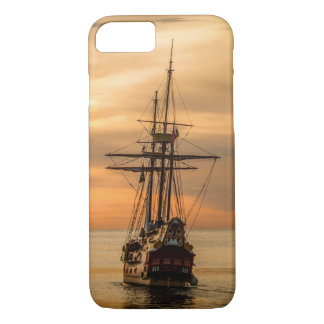 Beautiful Orange Sunset Age of Sail iPhone 8/7 Case