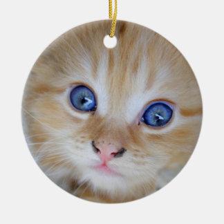Beautiful Orange Tabby Kitten Ceramic Ornament