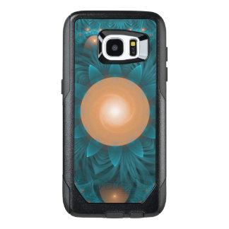 Beautiful Orange-Teal Fractal Lotus Lily Pad Pond. OtterBox Samsung Galaxy S7 Edge Case