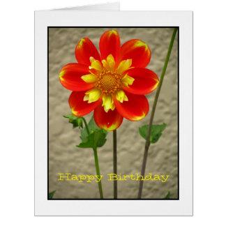 Beautiful Orange Yellow Flower Card