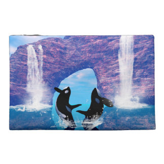 Beautiful orca travel accessory bag