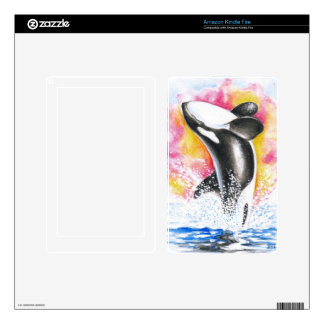Beautiful Orca Whale Breaching Kindle Fire Decal