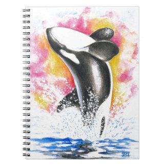 Beautiful Orca Whale Breaching Notebook